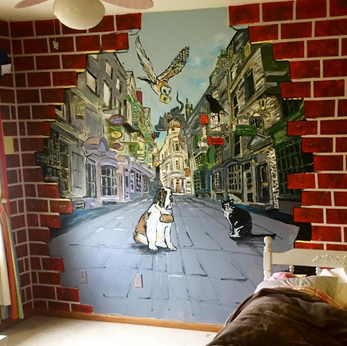 Kids Bedroom Mural Pets
